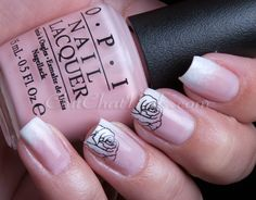 Rose french-tip manicure #nails #manicure #wedding