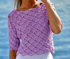 Crea un pull ajour traforato con i nostri schemi maglia gratis