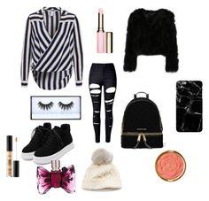 """Fashion"" by amanda-289 ❤ liked on Polyvore featuring WithChic, MICHAEL Michael Kors, SIJJL, Huda Beauty, Milani, Smashbox, Clarins and Viktor & Rolf"