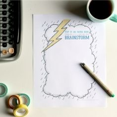 Creative ideas? Get them down on paper with this free illustrated brainstorming printable. (Plus, some fun with stop motion video)