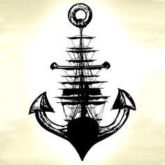Segelschiff Anker Poster Print / / nautische Wand von Clarafornia Sailing Ship Anchor Poster Print // Nautical Wall by Clarafornia Tattoo Drawings, Body Art Tattoos, Sleeve Tattoos, Art Drawings, Ship Tattoos, Boat Tattoos, Anchor Drawings, Rock Tattoo, Diy Tattoo