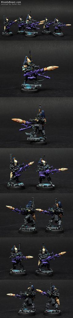 Eldar Ulthwe Dark Reapers painted by Rafal Maj (BloodyBeast.com)