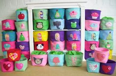 Felt Storage Box Cute by paper-and-string, the perfect gift for Explore more unique gifts in our curated marketplace. Sewing Crafts, Sewing Projects, Felt Projects, Felt Crafts, Diy Crafts, Kids Room Accessories, Baby Decor, Diy For Kids, Wool Felt