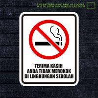 WSKPC032 Sticker Warning Sign Tidak Merokok Di Lin