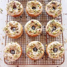 Brown Butter Pistachio Doughnuts from Joy The Baker! - see more of our favourite insta-inspo on instagram @sweet_magazine
