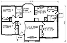 Traditional House Plan 45231 Level One