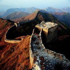 The Great Wall was built on the highest vantage points and requires significant climbing.