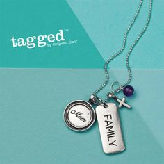 Mom + Family + Faith  Tagged Origami Owl Necklace