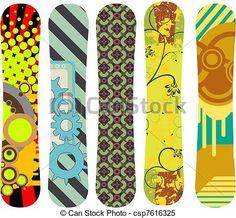 Vector - snowboard design pack 6 - stock illustration, royalty free illustrations, stock clip art icon, stock clipart icons, logo, line art, EPS picture, pictures, graphic, graphics, drawing, drawings, vector image, artwork, EPS vector art