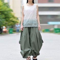 023f55deb15 Women autumn and winter cotton linen pants Linen Pants