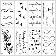 iAppeals MB Classic Black Tatoo Cat Bird Fake Tattoo Tatuajes Hand Tatouage Body Waterproof Temporary Tattoo Sticker Small Taty - Brand Name: MB Fake Tattoos, Star Tattoos, Temporary Tattoos, Arrow Tattoos, Body Tattoos, Tatoos, Colorful Eyeshadow, Colorful Makeup, Minimal Makeup Look