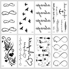 iAppeals MB Classic Black Tatoo Cat Bird Fake Tattoo Tatuajes Hand Tatouage Body Waterproof Temporary Tattoo Sticker Small Taty - Brand Name: MB Fake Tattoos, Star Tattoos, Temporary Tattoos, Tatoos, Arrow Tattoos, Body Tattoos, Colorful Eyeshadow, Colorful Makeup, Minimal Makeup Look