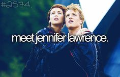 Meet Jennifer Lawrence...I hear she is really funny and she is an awesome role model to girls everywhere
