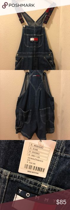 Tommy Hilfiger Overalls Shorts Size: EXTRA Small Purchased from Urban Outfitters LIKE NEW WITH TAGS VERY SMALL HALF INCH RIP IN BACK  SEWABLE!! Tommy Hilfiger Jeans Overalls