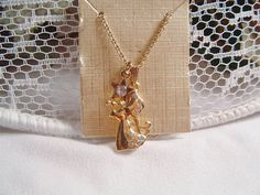 Calling All Angels Monet Gold Tone by SARAHSVINTAGEBAUBLES on Etsy
