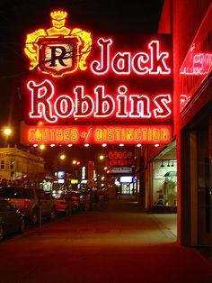 Jack Robbins Neon Sign