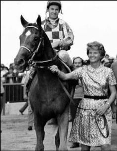 With Ron Turcotte & Owner Penny Chenery