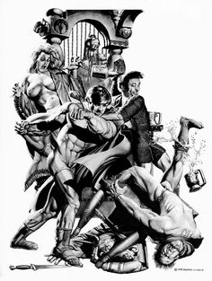 richard corben black and white art Heavy Metal Comic, Heavy Metal Art, Comic Book Characters, Comic Books Art, Book Art, Day Of The Dead Artwork, John Carter Of Mars, Black And White Comics, Bd Comics