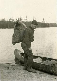Vintage canoeist