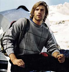 Jason Caselton for @Nautica (Winter 2003) #JasonCaselton #Nautica #model #Welsh #snow #mountain