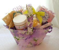 Spa Bath Gift Basket thank you gifts teacher by TheLittleSoapStore, $29.95