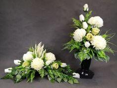 CHRYZANTEMY żółte pomarańczowe KALIE (1501.47) stroik na grób cmentarz Kompozycje kwiatowe Marko604 Grave Decorations, Table Decorations, Cemetery Flowers, Casket, Ikebana, Funeral, Greenery, Floral Wreath, Wreaths