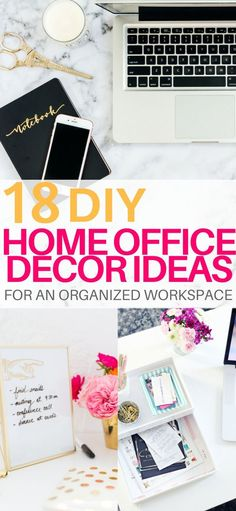18 of the best DIY Projects for Home office Decor to Create an Organized Workspace and Boost Productivity When Working From Home. These DIY Office Decor Projects will be sure to inspire you to create something amazing today and make your home office a place you want to be! Diy home office decor ideas #homeoffice #homeofficeideas #officedecor #officedesign #diyproject #diyhomedecor #bossbabe #girlboss
