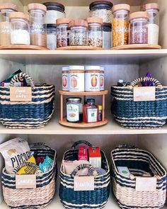 The Home Edit's Top Pantry Organization Tips - Joanna Teplin And Clea Shearer Interview Conquer clutter, once and for all. Looks Instagram, Instagram Worthy, Pantry Organization, Bathroom Organization, Pantry Ideas, Organizing Tips, Organized Pantry, Organising, Built In Cabinets