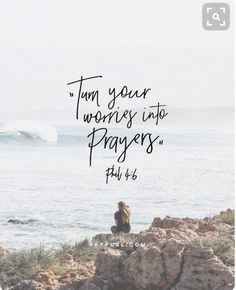 Give your worries to Jesus