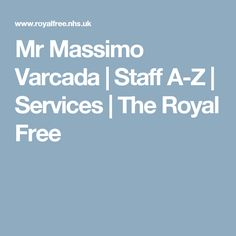 Mr Massimo Varcada | Staff A-Z | Services | The Royal Free Free