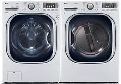 Power Pair Special-LG Turbo Series Ultra-Capacity Laundry System with Steam*PURE WHITE COLOR*(WM4270HWA_DLEX4270W) ** Read more  at the image link.