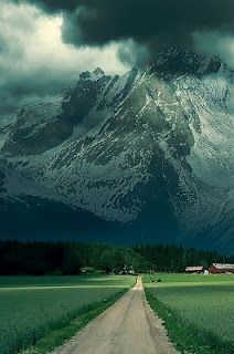This photo of the Alps is majestic and somewhat threatening