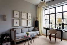 holiday-house-2016-dressing-room-patrick-mcgrath-habituallychic-001 - love the grey walls, this would be great in the library.
