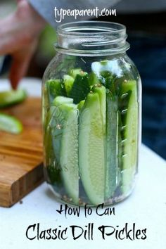 Classic Dill Pickles Canning Recipe- I have pickling cucumbers in my garden!