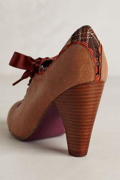 Gingham-Trimmed Oxford Heels - anthropologie.com