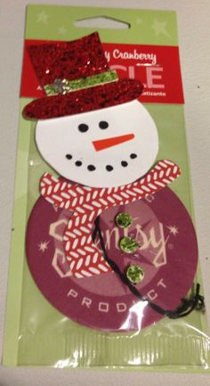 Cute way to decorate a Scent Circle! Love this Snowman!