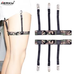 Apparel Accessories Provided Mens Fashion Stripe Shirt Stays Holders For Men Adjustable Elastic Shirt Garters Leg Suspenders Non-slip Clamp Skin-friendly Wide Selection;