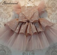 Baby Girl Birthday Dress, Baby Girl Party Dresses, Dresses Kids Girl, Birthday Dresses, Cheap Flower Girl Dresses, Little Girl Gowns, Gowns For Girls, Frocks For Girls, Baby Frocks Designs