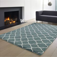Free delivery over to most of the UK ✓ Great Selection ✓ Excellent customer service ✓ Find everything for a beautiful home Blue Cream, Trellis, Teal Blue, Rugs Online, Floor Rugs, Beautiful Homes, Area Rugs, Lounge, Flooring
