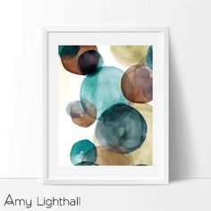 watercolor modern mid century Graphic art neutral by AmyLighthall