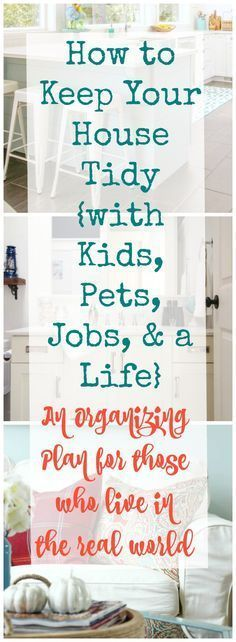 THE ONLY CLEANING POST YOU NEED-- How to keep your house tidy with kids pets jobs and a life - an organizing plan for those who live in the real world