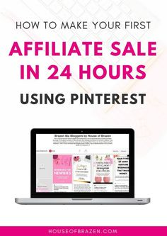 Ready to MAKE YOUR FIRST AFFILIATE SALE IN 24 HOURS using Pinterest? Whether you're brand new to affiliate marketing or you've been doing it a while, this e-book will show you how to make a sale using Pinterest only. It's really easy!