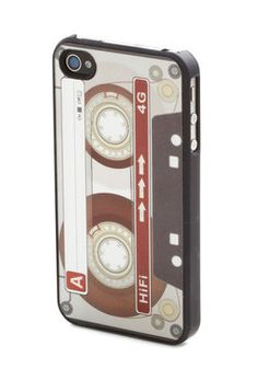 I so want this! Cassette the Standard iPhone 4/4S Case, #ModCloth
