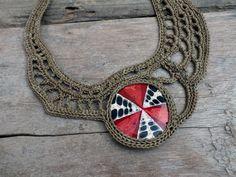 Fashion necklace Statement necklace Big necklace by AmorArt