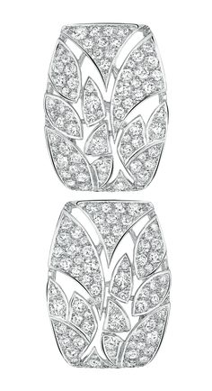 Champ de Blé #Earrings from #LesBlesDeChanel - #Chanel - #FineJewelry collection in 18K white gold set with 176 #BrilliantCut - #Diamonds (3 cts) - July 2016
