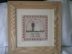 Cross Stitch Wedding picture to mark the day forever.