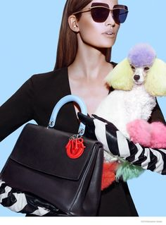 Bette Franke Models Fall Bags for Dior Magazine Shoot  Love the sunglasses and gloves