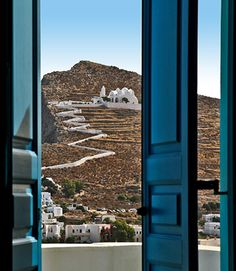 The view from our room this morning! Greek Island Tours, Greek Islands, Beautiful Islands, Beautiful World, Beautiful Places, Archaeological Site, Travel Maps, Architectural Elements, Santorini