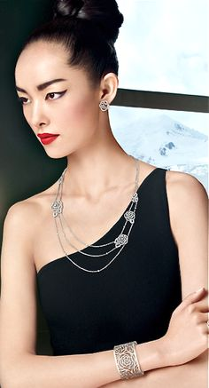 Chanel fine jewelry campaign. Love the makeup.