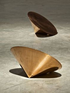 Roni Horn, Pair Object Via (1990) solid forged copper